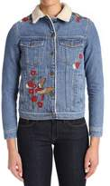 Mavi Jeans Women's Katy Embroidered Denim Jacket