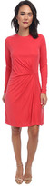 BCBGMAXAZRIA Roxie Long Sleeve Dress with Front Tuck