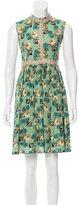 Anna Sui Printed Mini Dress