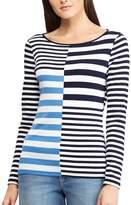 Chaps Women's Striped Crewneck Tee