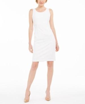 Kasper Petite Ribbed Metallic Sheath Dress