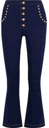 Alice McCall All Of Me Studded High-rise Kick-flare Jeans