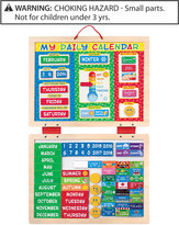 Melissa & Doug Kids' My First Daily Calendar Magnetic Toy