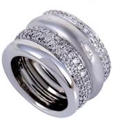 Estate Pomellato 18K White Gold with 2.50ct Diamond Band Ring Size 6.5