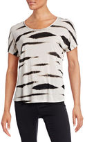 Kensie Animal Print Boxy T-Shirt