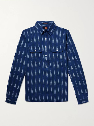 The Workers Club Pinstriped Cotton Half-Placket Shirt
