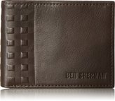 Ben Sherman Men's Holland Park Full Grain Cowhide Leather Six Pocket Wallet with Rfid Protection