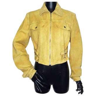 Christian Dior Yellow Suede Jacket for Women Vintage