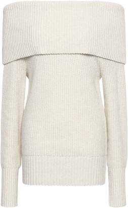 Rebecca Taylor Off-the-shoulder Ribbed-knit Sweater