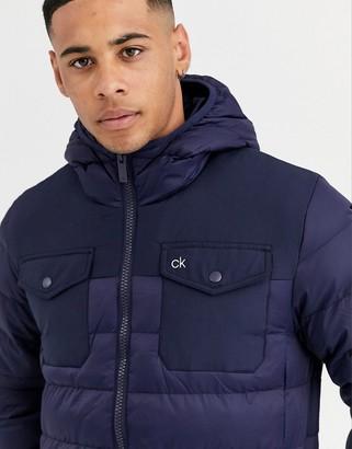 Calvin Klein Golf starboard jacket in navy