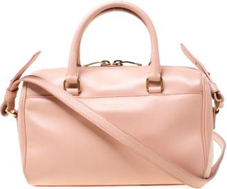 Saint Laurent Paris Saint Laurent Peach Leather Classic Baby Duffle Crossbody Bag