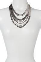 Natasha Accessories Multi Row Colorblock Necklace