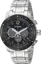 Citizen Men's 'Chronograph' Quartz Stainless Steel Casual Watch, Color:d (Model: CA4358-58E)