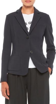 Emporio Armani Chevron Cotton Blend Jersey Jacket