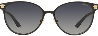 Versace Medusa logo round sunglasses
