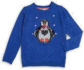 Poof Girls 7-16 Sequined Penguin Sweater