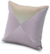 Missoni Home Oleg Striped Patch Pillow