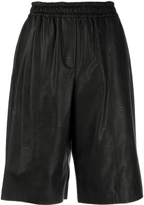 Nude Knee-Length Elasticated Shorts