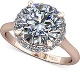 Macy's Diamond Halo Mount Setting (1/8 ct. t.w.) in 14k Rose Gold