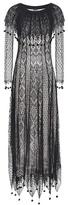 Alexander McQueen Pom Pom silk lace dress