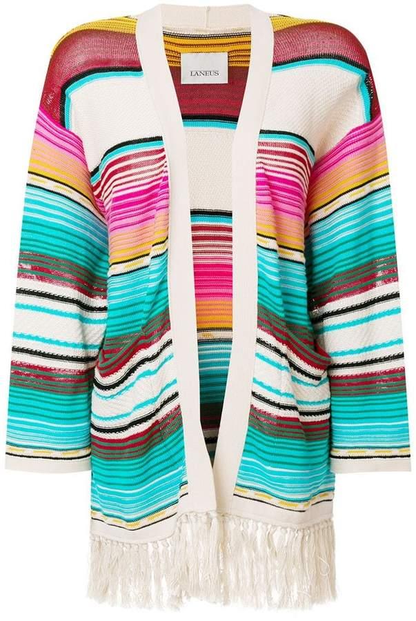 Laneus Mexico stripe cardigan
