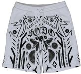 Marcelo Burlon County of Milan Tattoo Print White Cotton Shorts