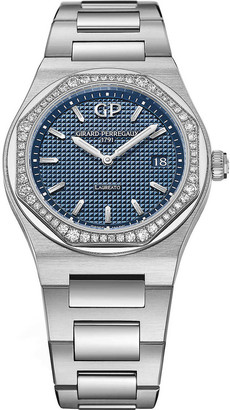 Girard Perregaux 80189D11A431-11A Laureato stainless steel and diamond watch