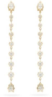 Jade Trau - Envoy Diamond & 18kt Gold Drop Earrings - Womens - Gold