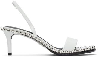 Alexander Wang White Patent Nova Low Heeled Sandals