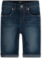 Levi's Toddler & Little Girls' Sweetie Glitter Denim Bermuda Shorts