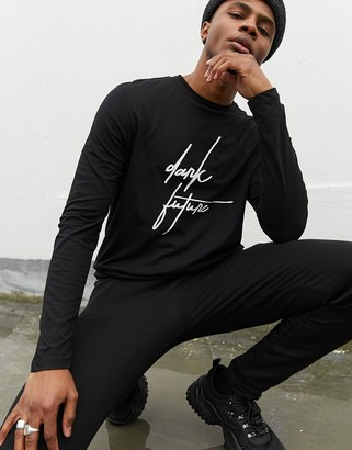 ASOS Dark Future long sleeve t-shirt with Dark Future logo