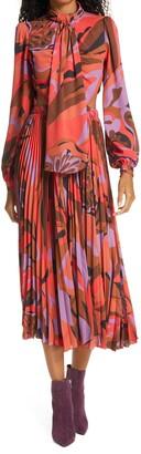 Ronny Kobo Cutout Detail Long Sleeve Dress