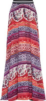 Stella Jean Printed silk-georgette maxi skirt