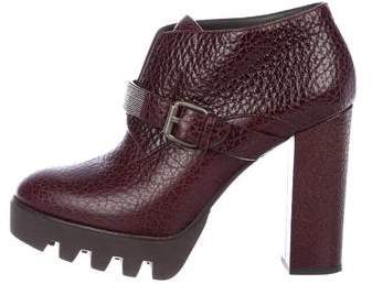 Brunello Cucinelli Embellished Leather Ankle Booties