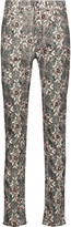 Isabel Marant Mesa printed cotton-blend corduroy skinny pants