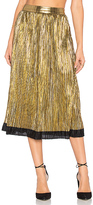 House Of Harlow x REVOLVE Luna Midi Skirt in Metallic Gold