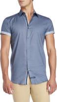 English Laundry Medallion Print Short Sleeve Shirt