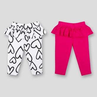 Lamaze Baby Girls' 2pk Organic Cotton Ruffle Pants -