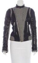 Balenciaga Herringbone Leather Jacket