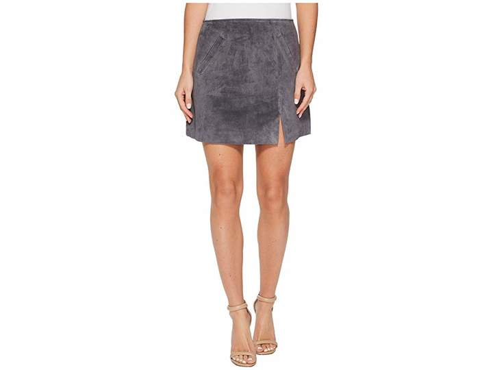 Blank NYC Grey Suede Mini Skirt in Star Gazer
