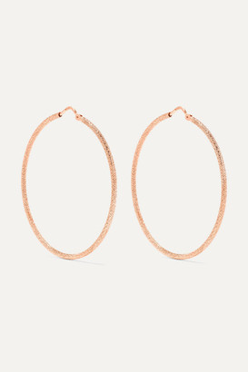Carolina Bucci Mirador 18-karat Rose Gold Hoop Earrings - one size