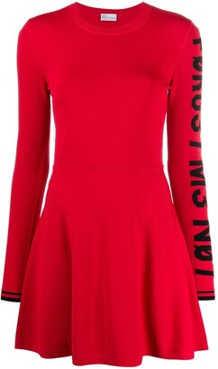 RED Valentino RED(V) forget me not flared dress