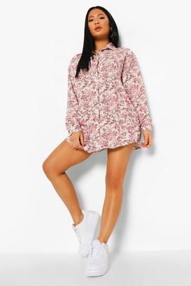 boohoo Plus Ditsy Floral Shirt