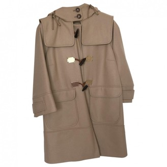 Pinko Camel Cashmere Coat for Women