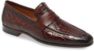 Magnanni Viggo Genuine Crocodile Penny Loafer