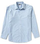 Murano Long-Sleeve Point-Collar Horizontal Stripe Sportshirt
