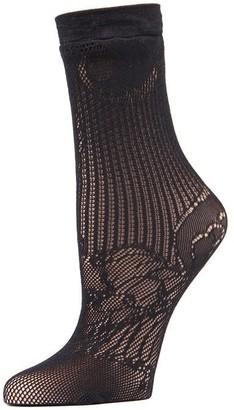 Natori Plume Lace Net Crew Socks