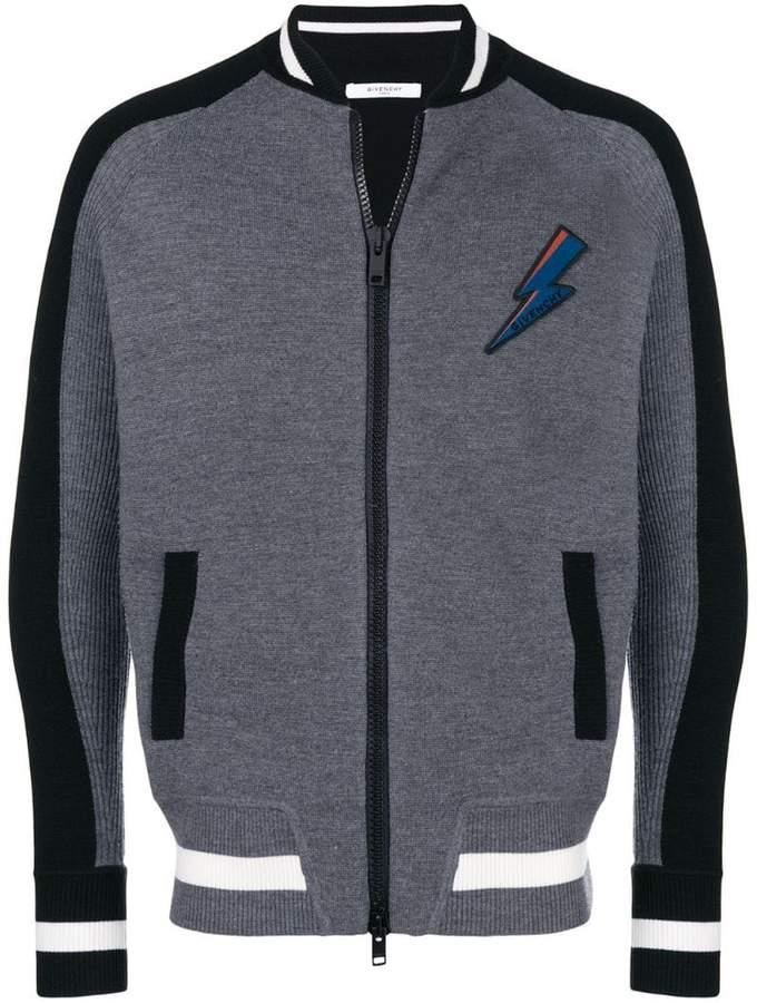 Givenchy contrast arm stripe jacket