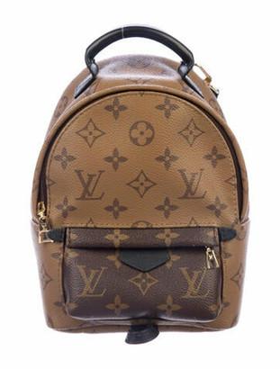 Louis Vuitton Reverse Monogram Palm Springs Mini Backpack Brown