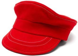 Charles Jeffrey Loverboy Trojan Felted-wool Bakerboy Cap - Red